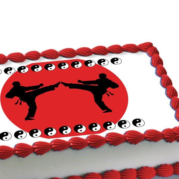 Taekwondo cake decorating martial arts edible image cake for Art cake decoration