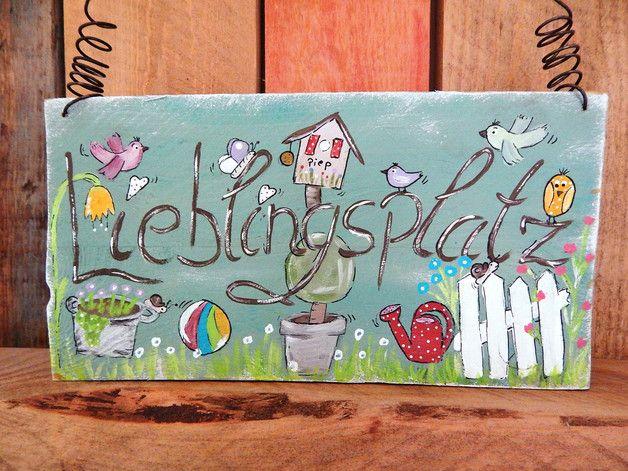 Photo of Shabby-Chic!! Ein schönes Holzschild für den Garten oder Terrasse . Das Schild…