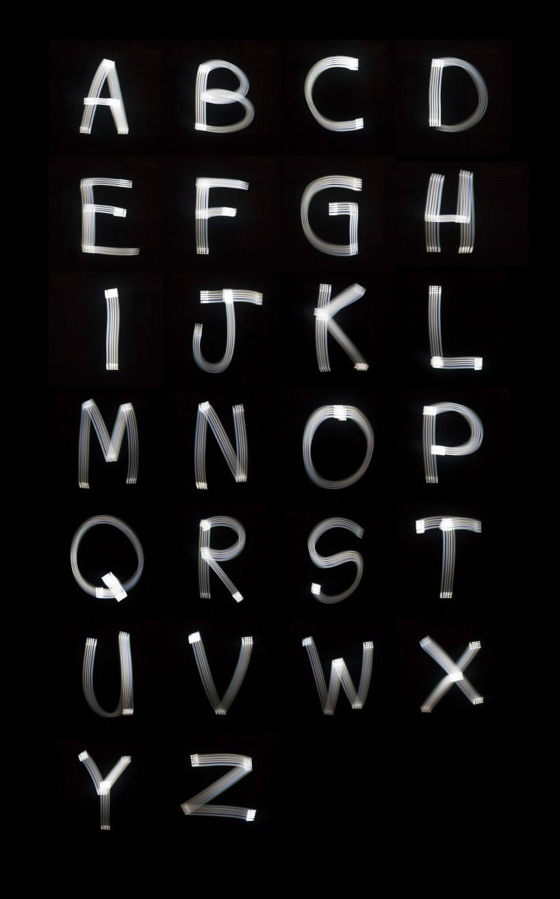 Marcus Byrne Turns Iphone Painted Light Into Font 3d Letter