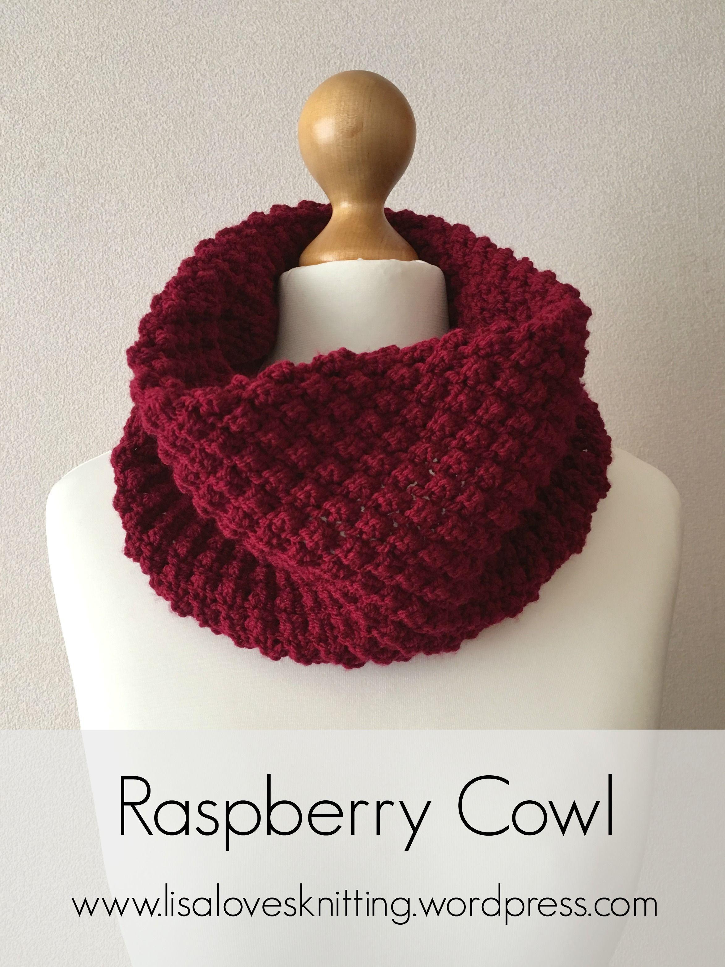 Raspberry Cowl | Knitting patterns, Stitch and Patterns
