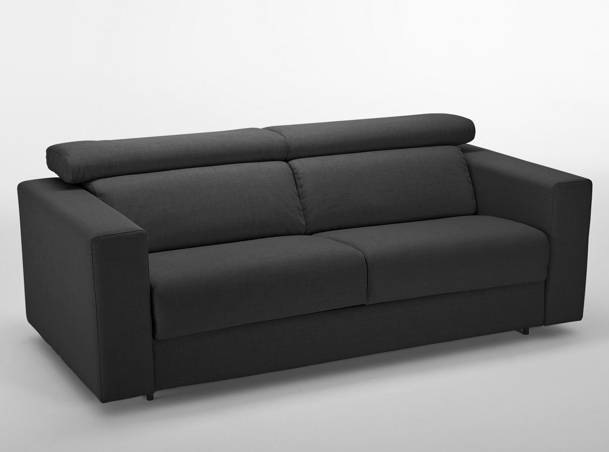 LABUAN PLUS Sofá cama con sistema de apertura italiano y cabezales ...