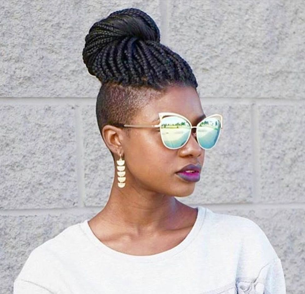 Pin By Cynt Hudson On Updos Braids With Shaved Sides Shaved Side Hairstyles Hair Styles