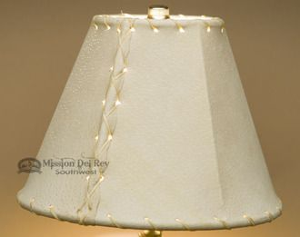 Western Leather Lamp Shade 8 Natural Pig Skin Lamp Shade Lamp Western Lamps