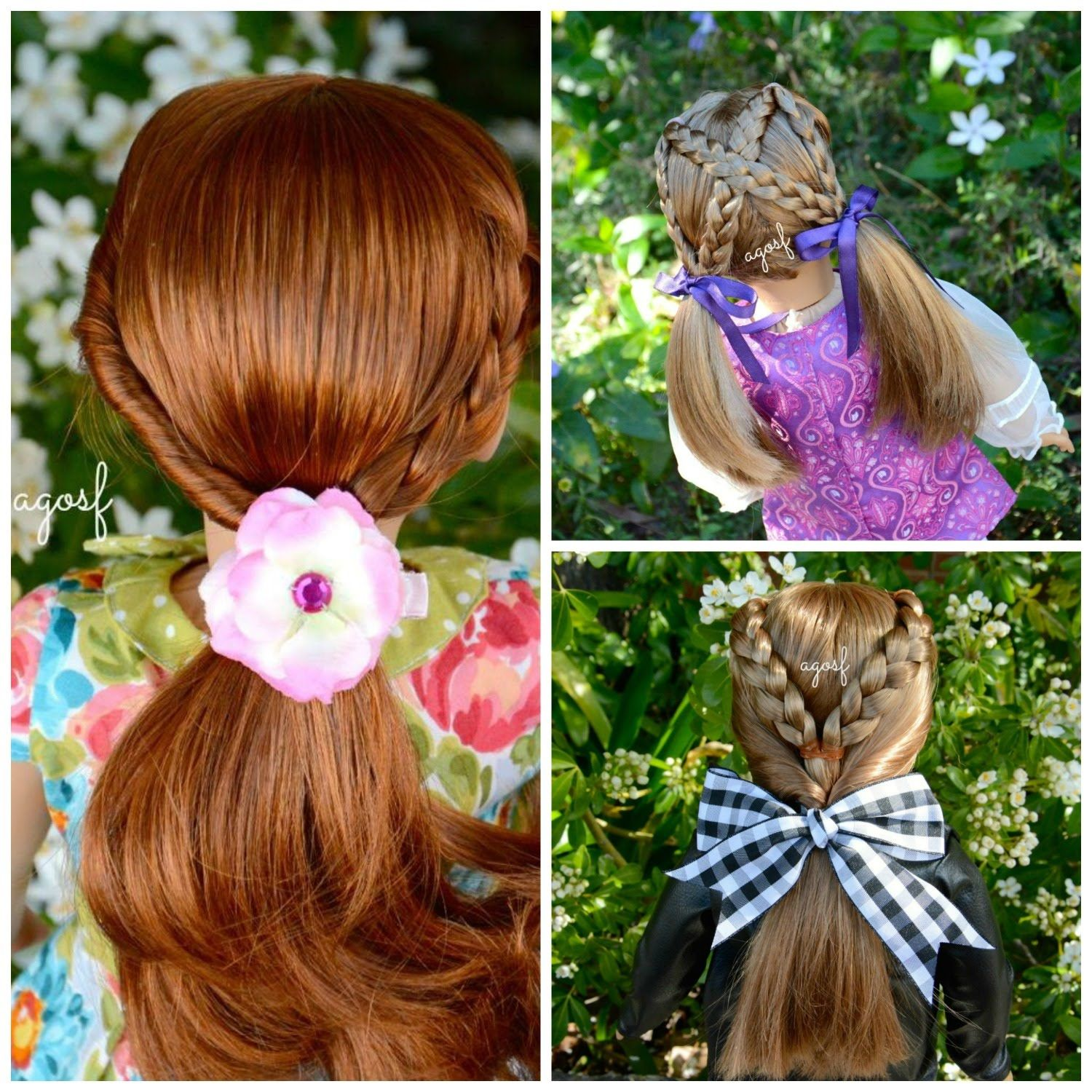 American Girl Doll Disney Hairstyles : American girl doll hair salon hairstyles by agoverseasfan