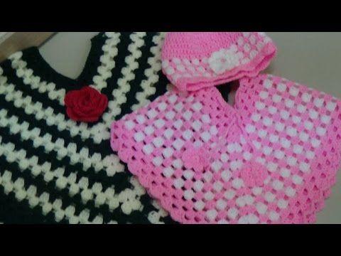 Child Poncho Crochet Tutorial - YouTube | Ponchos | Pinterest ...