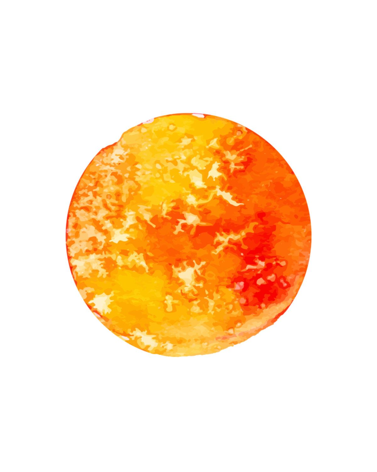 Sun Print Large Wall Art Watercolor Painting Large Painting