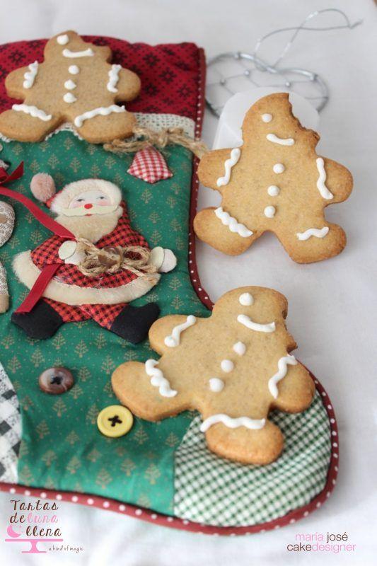Galletas de Jengibre navideñas receta y glasa para decorar | MIS ...