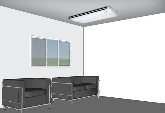 Ductless 4 Ductless Interior Renovation Ceiling Air Conditioner