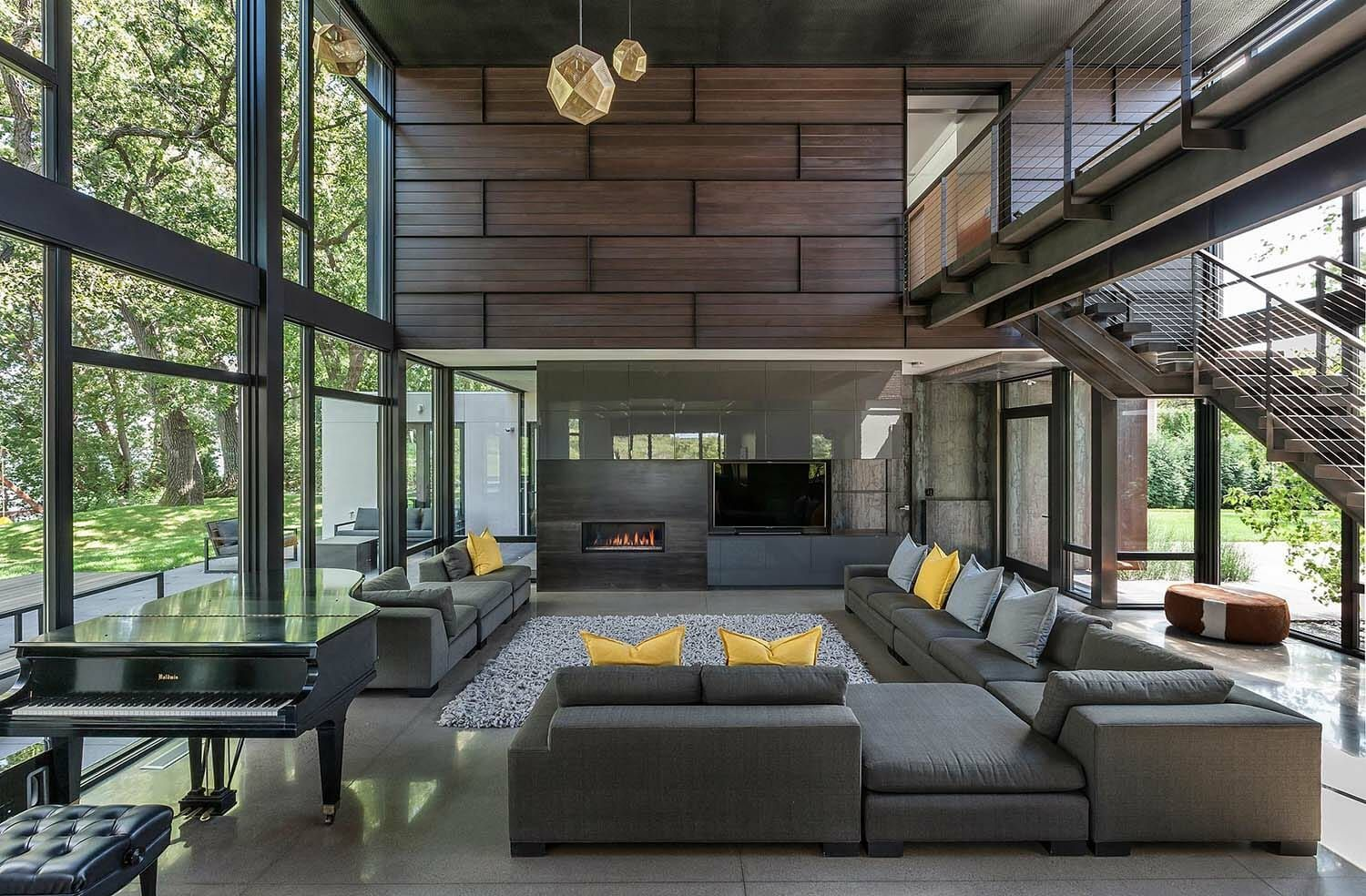 Industrial Modern House Boasts A Serene Lakeside Setting In Minnesota Minimal Interior Design Modern House Design Minimalism Interior