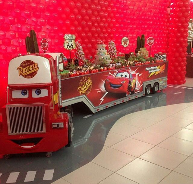 Lightning mcqueen dessert table candy tables