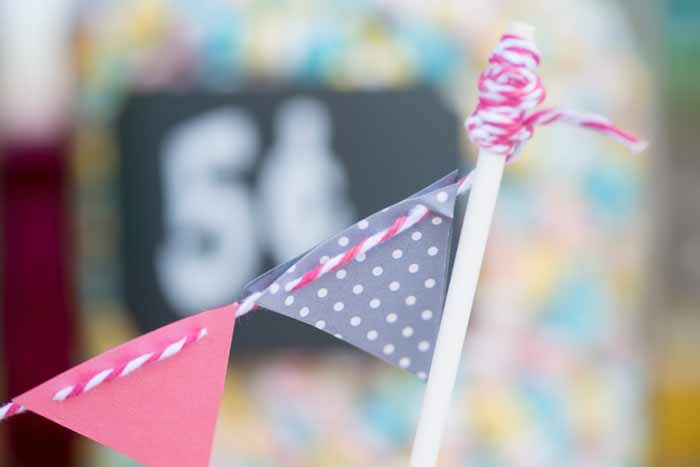 Vintage Candy Table Bunting