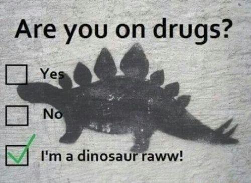 I'm a dinosaur!!! RAWW!!!