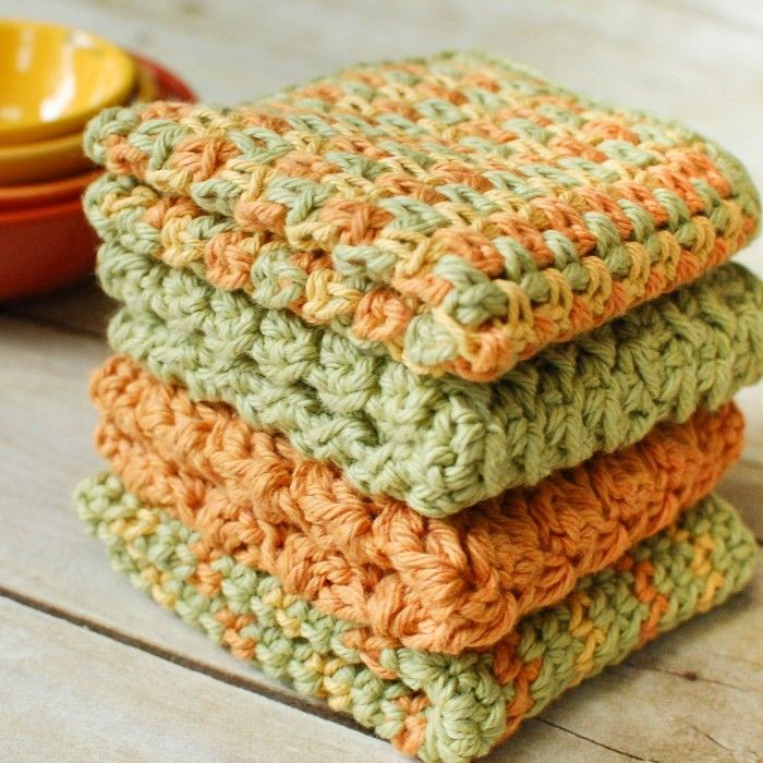 Crochet Dishcloths … 4 Quick and Easy Patterns | Croché y Patrones