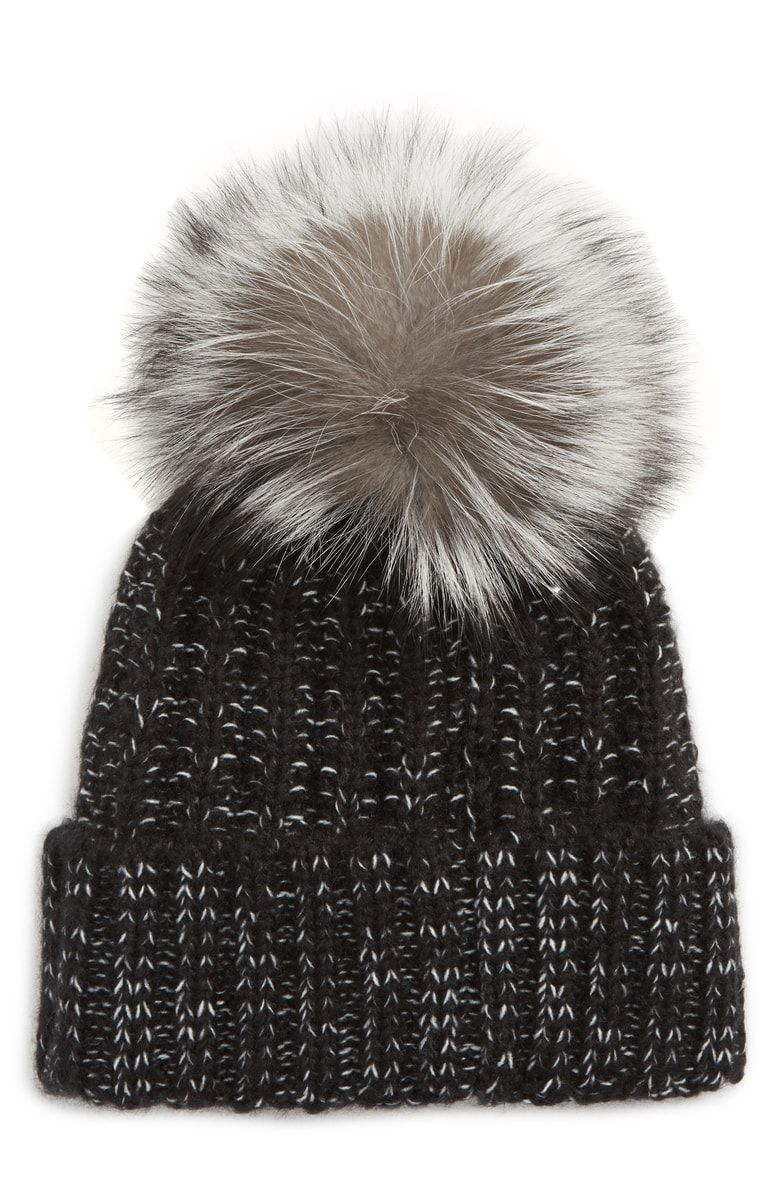 c1d35e9b093 Free shipping and returns on Kyi Kyi Beanie with Genuine Fox Fur Pom at  Nordstrom.com. A plush