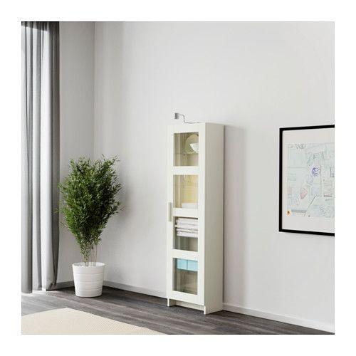 Brimnes Vitrine Blanc  Porte Vitre Ikea Et Armoires
