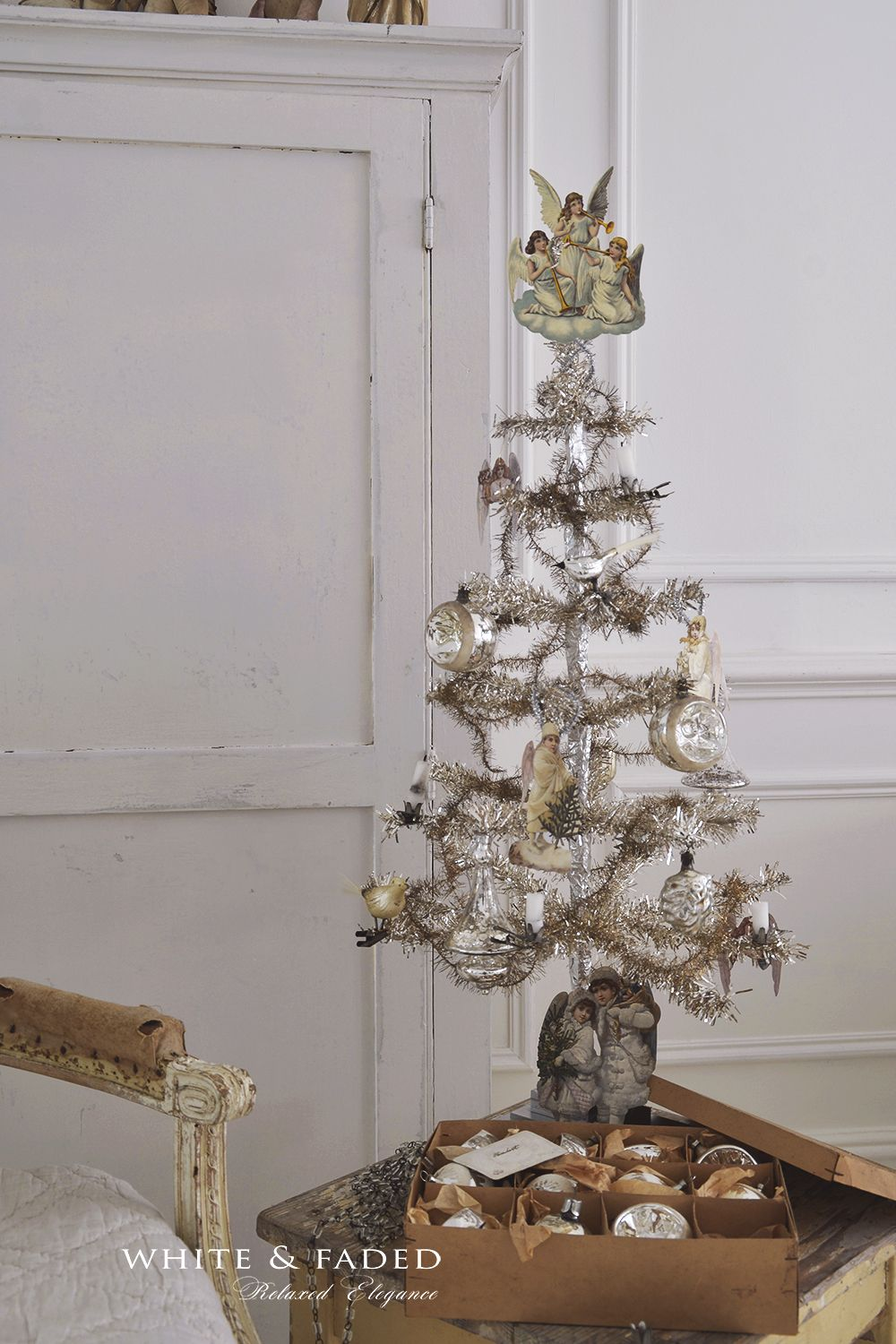vintage tinsel christmas tree - Vintage Tinsel Christmas Tree