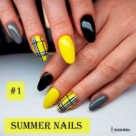 Best Yellow Nail Art Designs For Summer 2019 Acrylic Nails Yellow Yellow Nail Art Yellow Nails