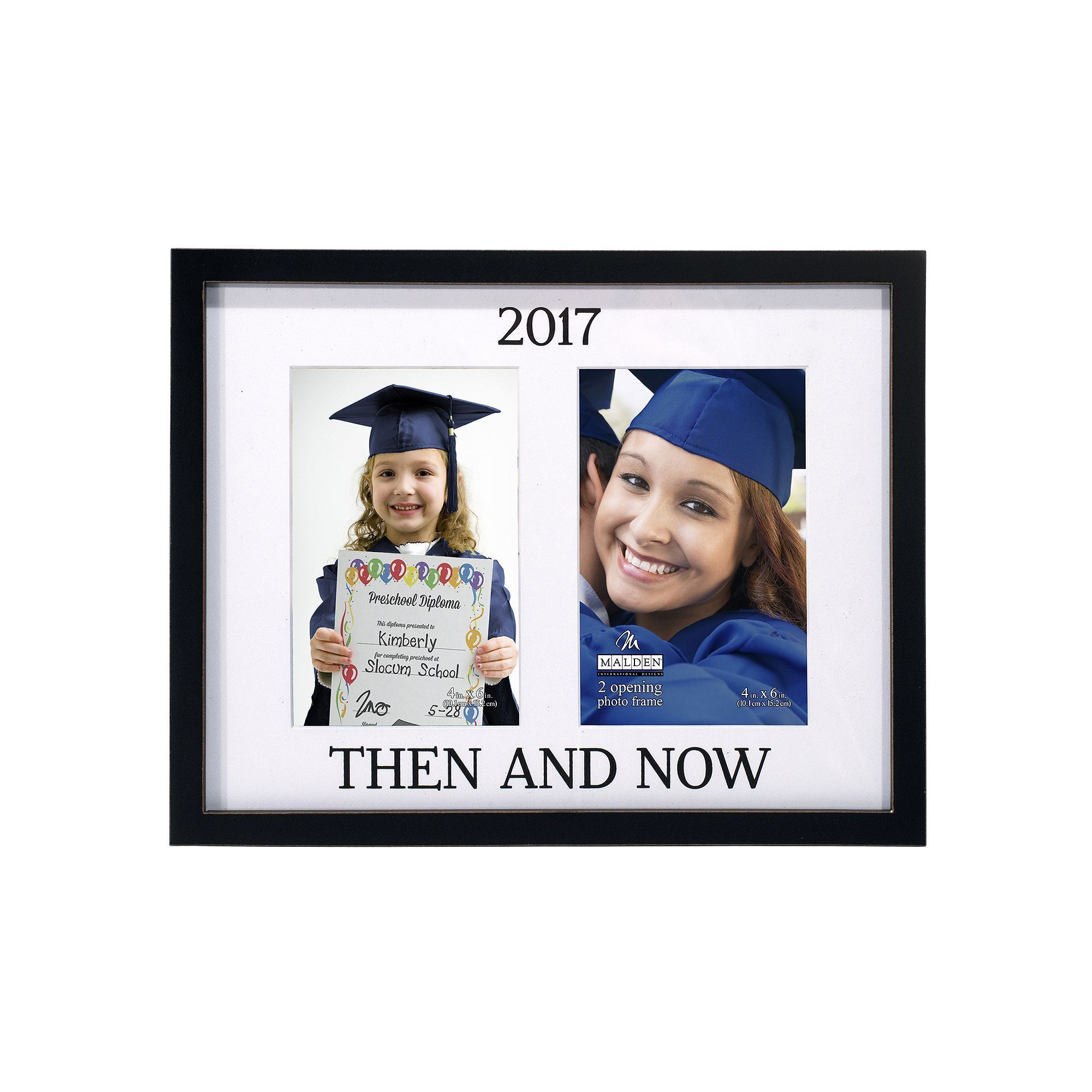 Malden ''Then And Now'' 2-Opening 4'' x 6'' Frame, Multicolor