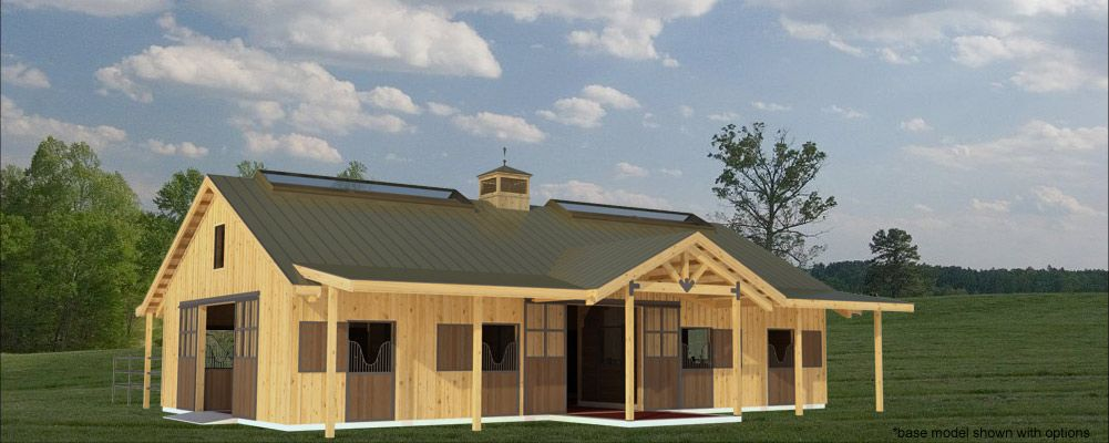 And horse stall pole barn horse barn and stable designs for Horse pole barn plans
