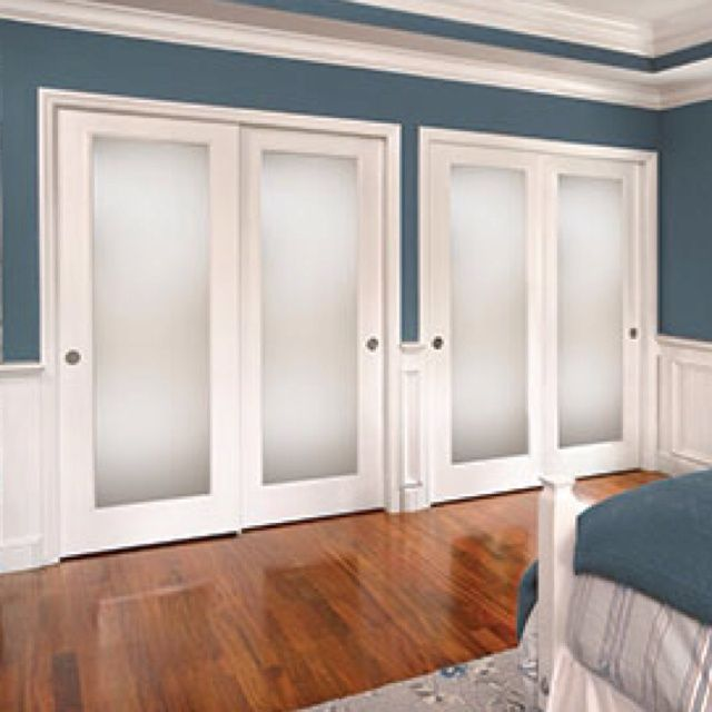 Frosted Closet Doors Good Update Rustic Mod House
