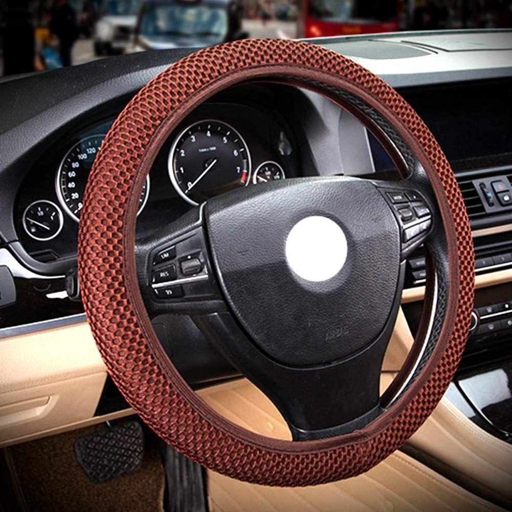 White Fluffy Australian Wool Car Steering Wheel Cover for Women Universal Elastic fit