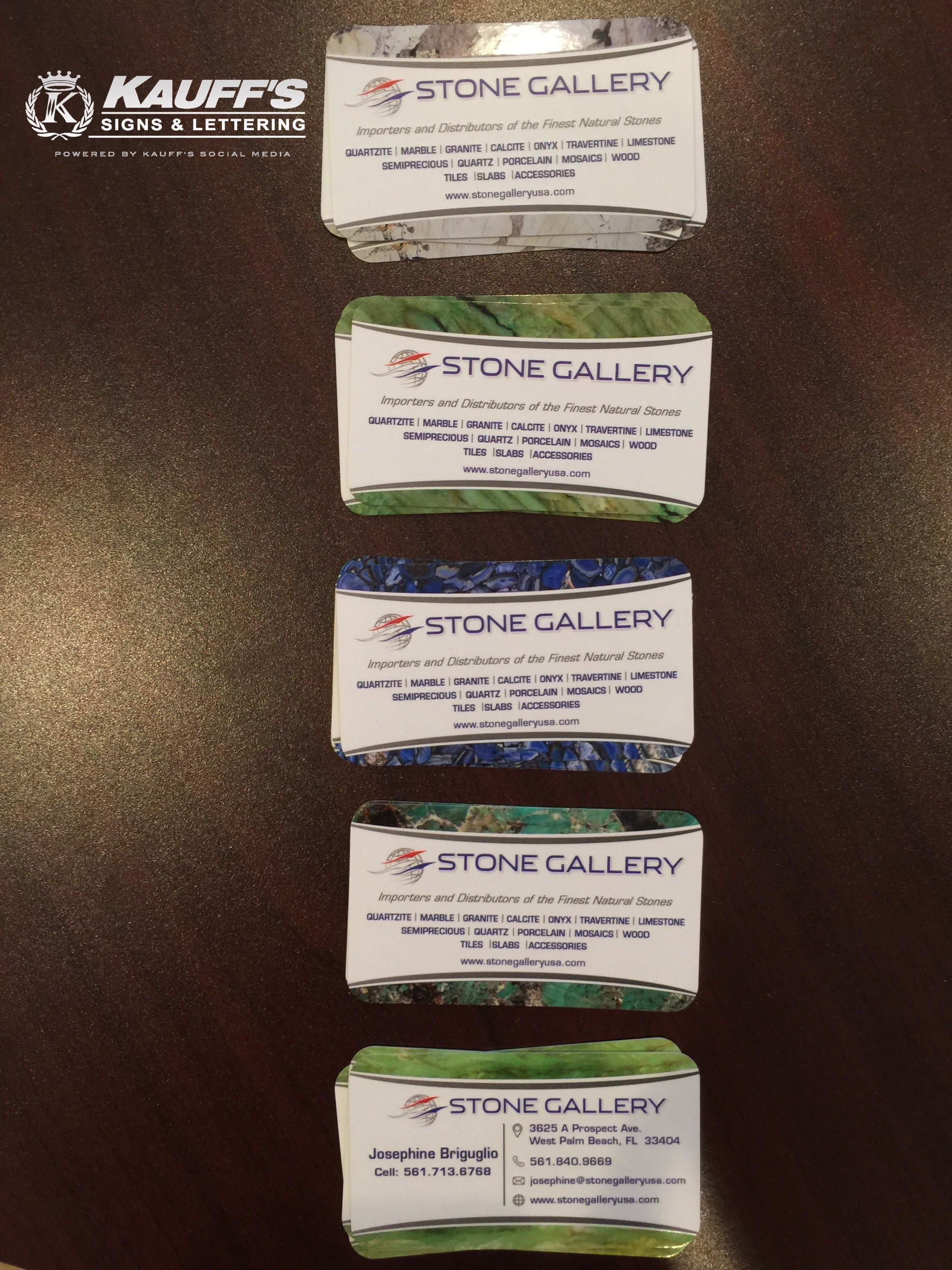 Stand out from the rest with a one of a kind business card. Stone ...