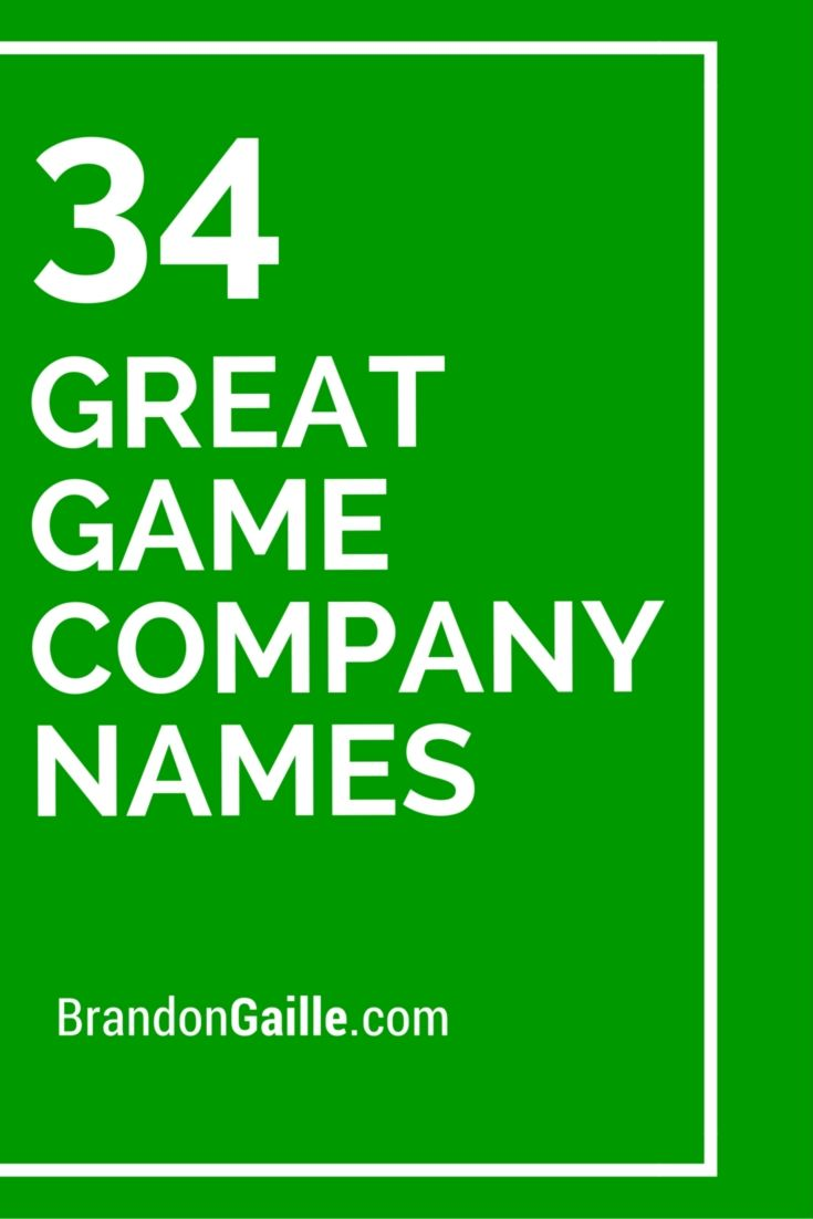 34 Great Game Company Names