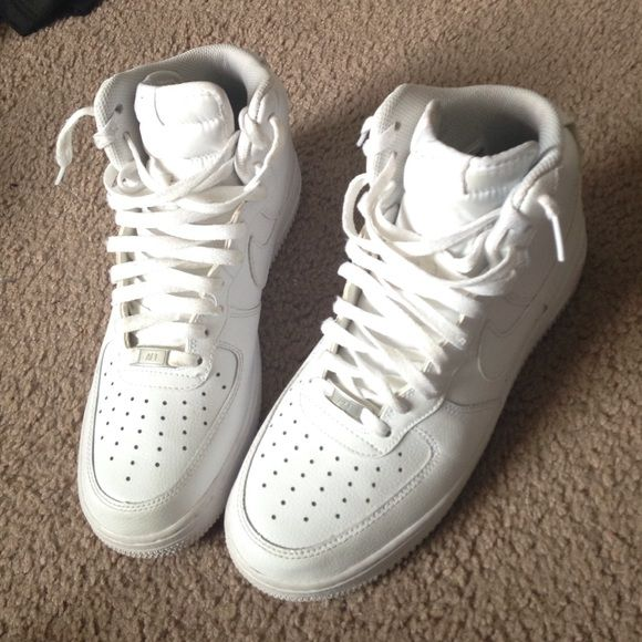 nike air force white high strap boots