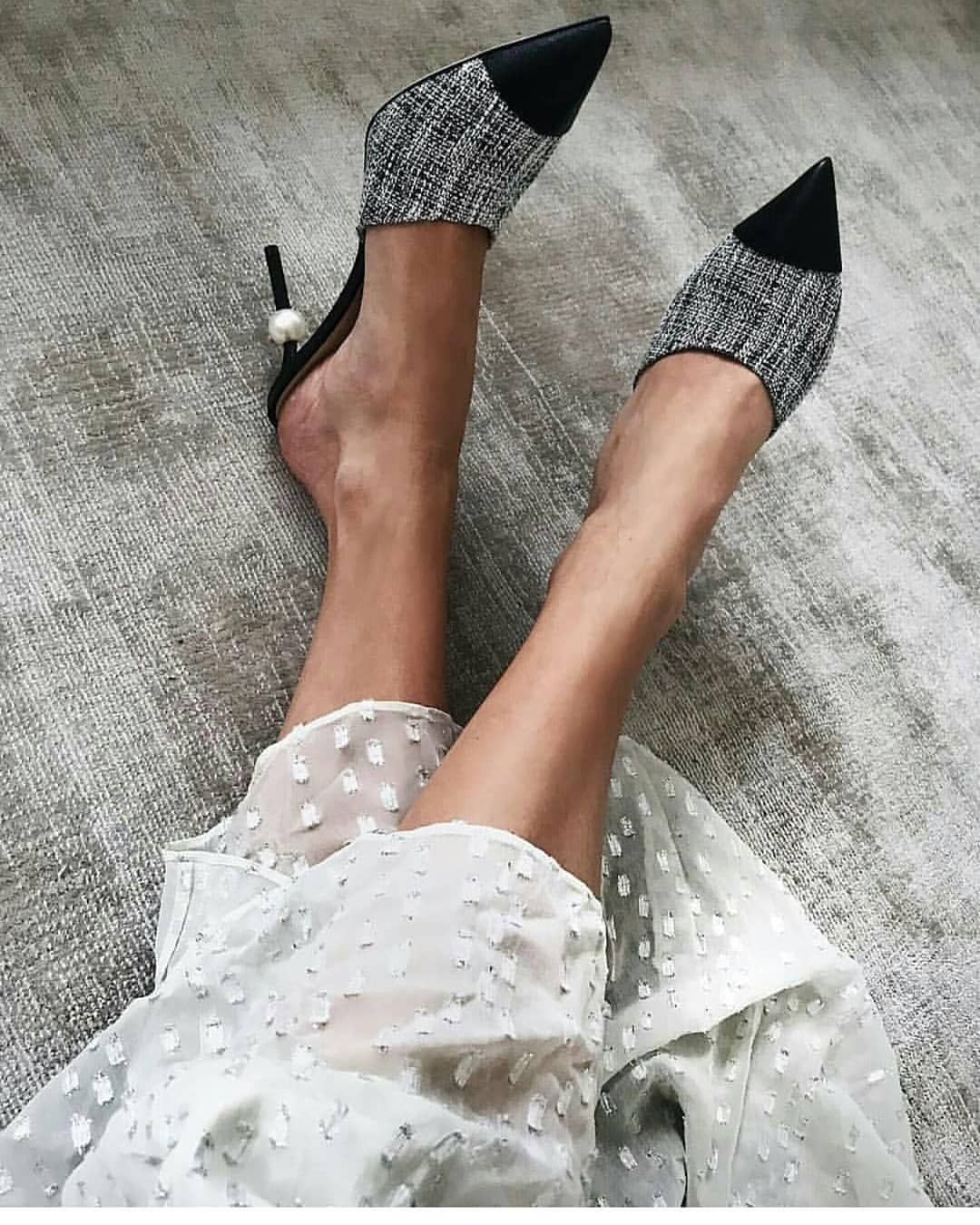 7890d71175d83 Shoe of the Month: Chanel pearl mules - 5 Inch and Up | STYLE | Chanel  pearls, Chanel mules, Fashion shoes
