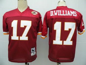 Online Sale Washington Redskins 17 D.Williams Red Jerseys Throwback Cheap 5f503817e
