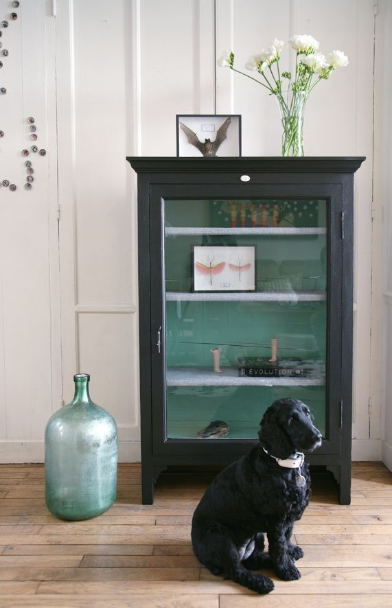 ENTRÉE Patiner en noir ou gris anthracite le meuble de la SBD pour