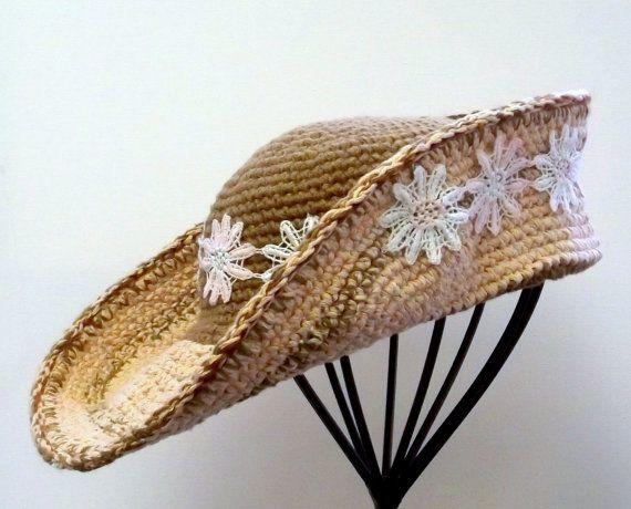 Vintage Style Crochet Hat  Womens Retro by SophiesHatsandMore,