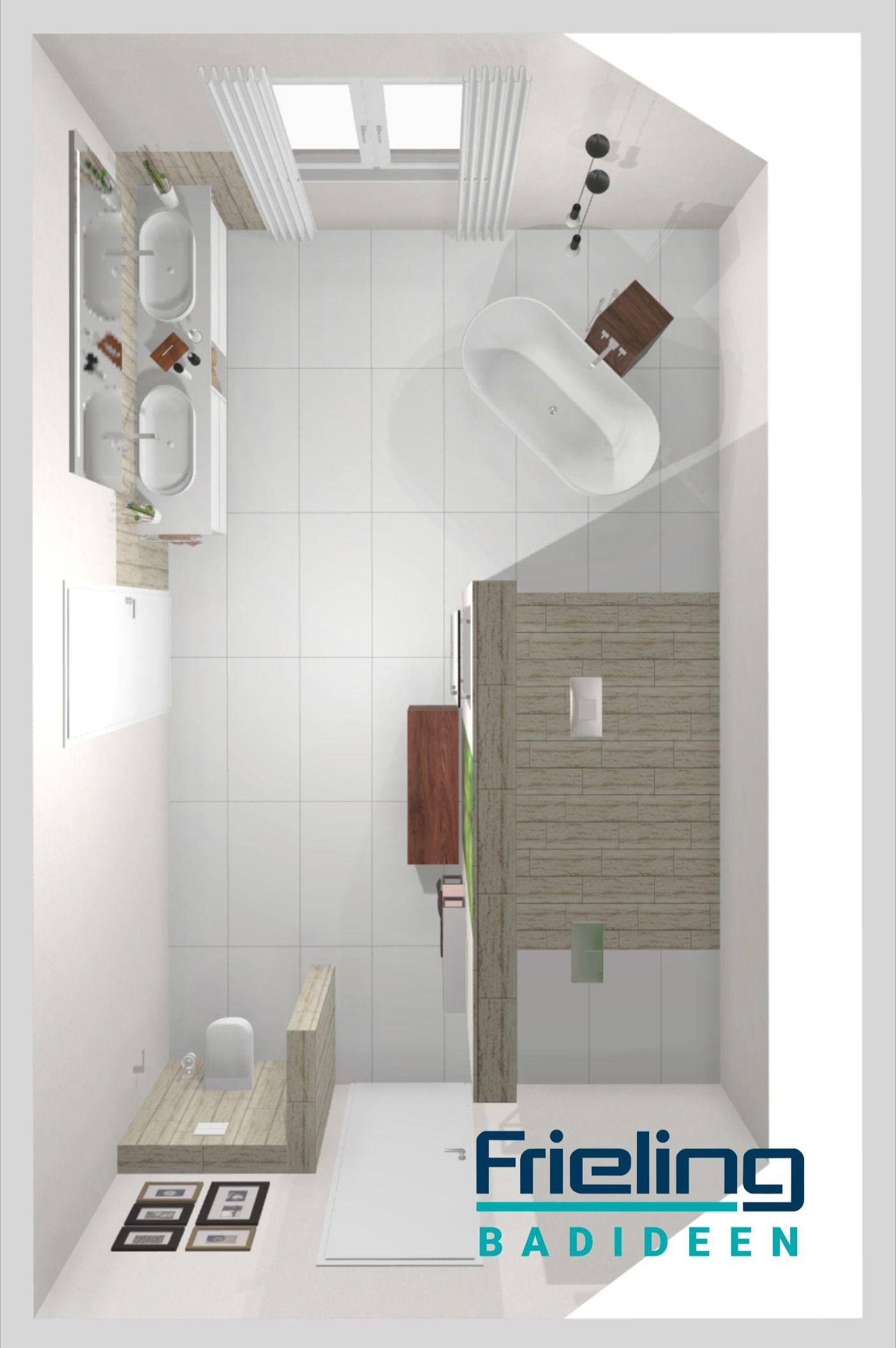 Mehr Bad Geht Nicht 3d Planung Doppeldusche 33 Qm Freistehende Badewanne T Wand In 2020 Grosse Badezimmer Badezimmer Grundriss Bad Design