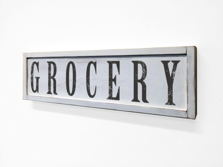 Grocery Floater Frame Wall Art Sign White, 24x7 | Pinterest | Bakery ...
