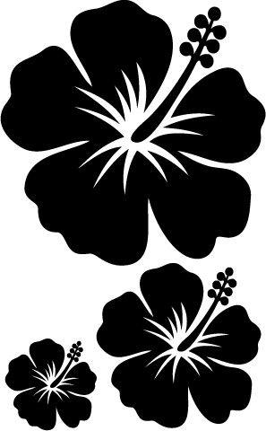 Hibiscus Stencil Set Flower Stencil Flower Stencils Printables Beach Stencils