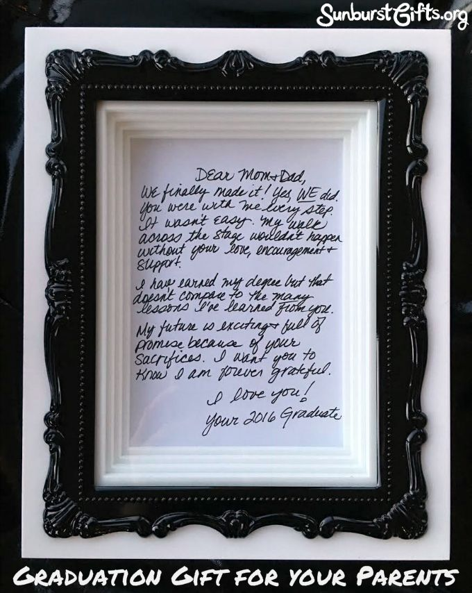 Graduation Thank You Gift for Parents from Daughter College Best Selling Items Personalized Picture Frame for Ending High School Son