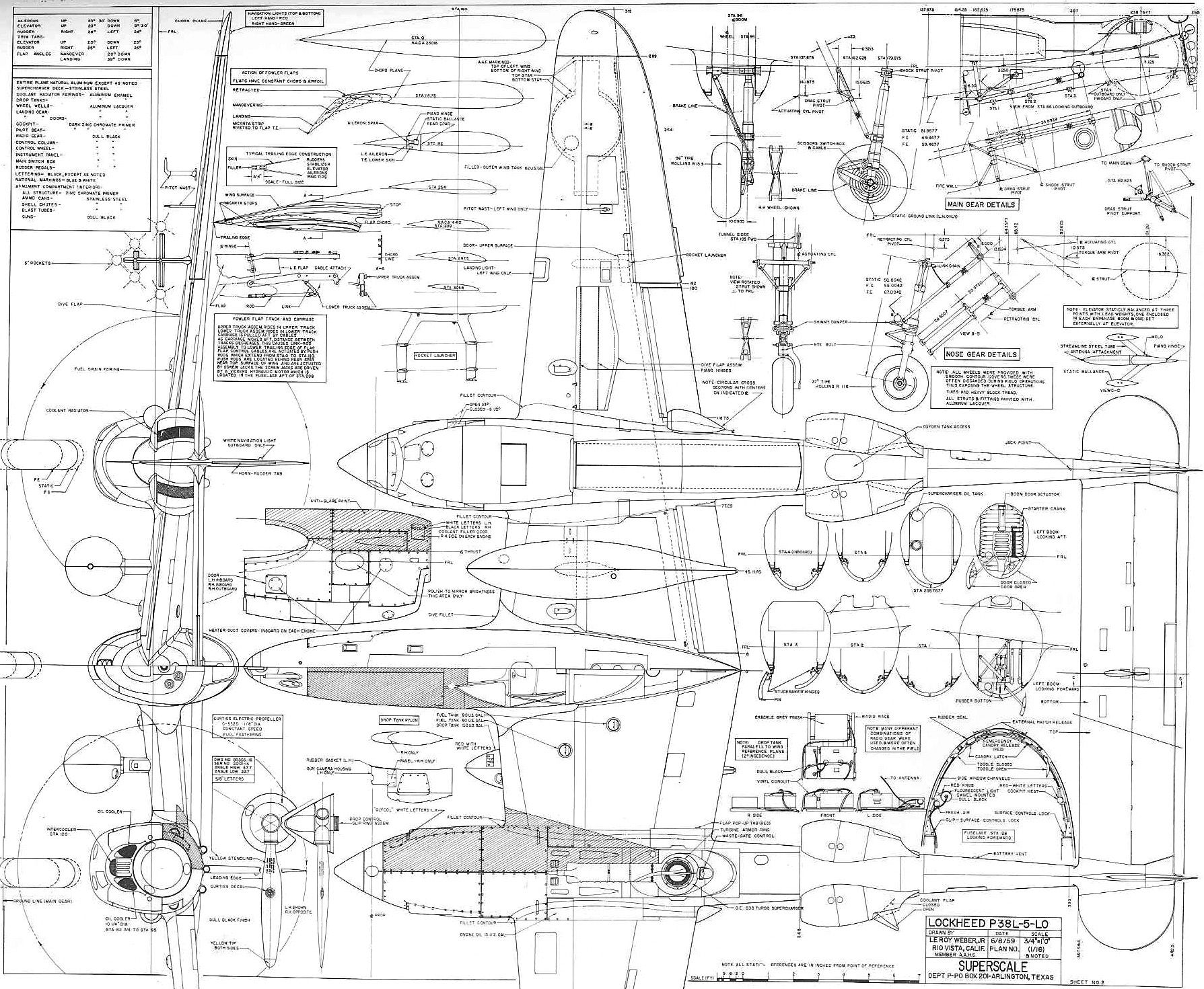 I love diagrams, this is a p38 | Graphic | Aircraft