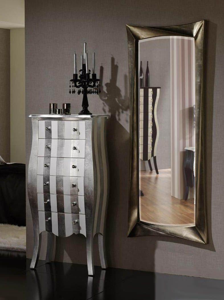 Espejos vestidores de dise o calixta decoracion beltran for Espejo madera envejecida