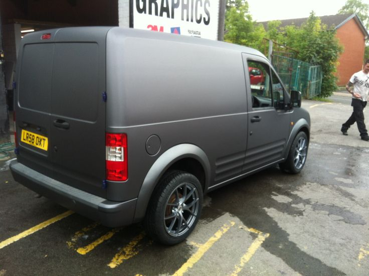 Matte Grey Van Wrap On Transit Connect Grey Vans Van Wrap Vans
