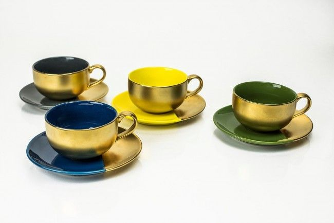 Desert Gold Tea Cup & Saucer Gift Set | Yedi Houseware | Dining Room ...
