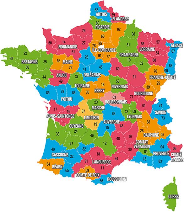Carte des sites BCN-BPF de la FFCT | Plan france, France catholique, France