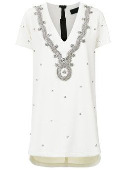 strass embellished T-shirt dress - Grey Andrea Bogosian Rjn984uEyh