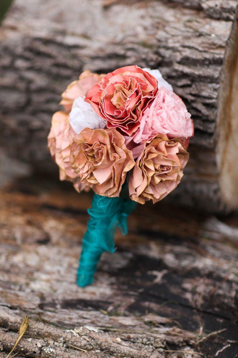 Diy How To Make A Dried Paper Flower Wedding Bouquet Washington