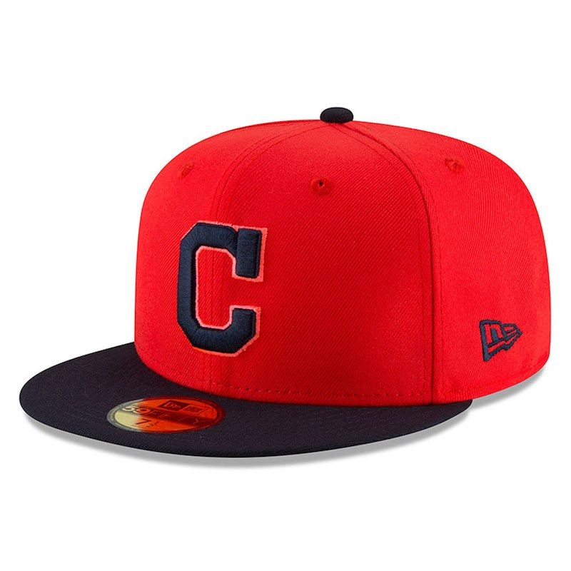 f7da3f4a0d8 Cleveland Indians New Era Youth 2018 Players  Weekend On-Field 59FIFTY  Fitted Hat – Red Navy