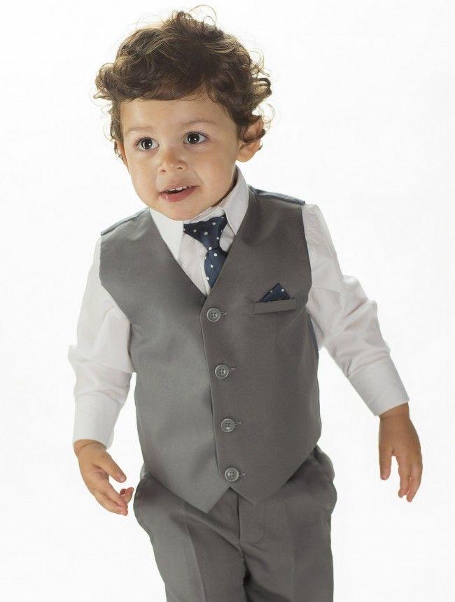 baby boys grey wedding suit | Wedding Inspiration | Pinterest ...