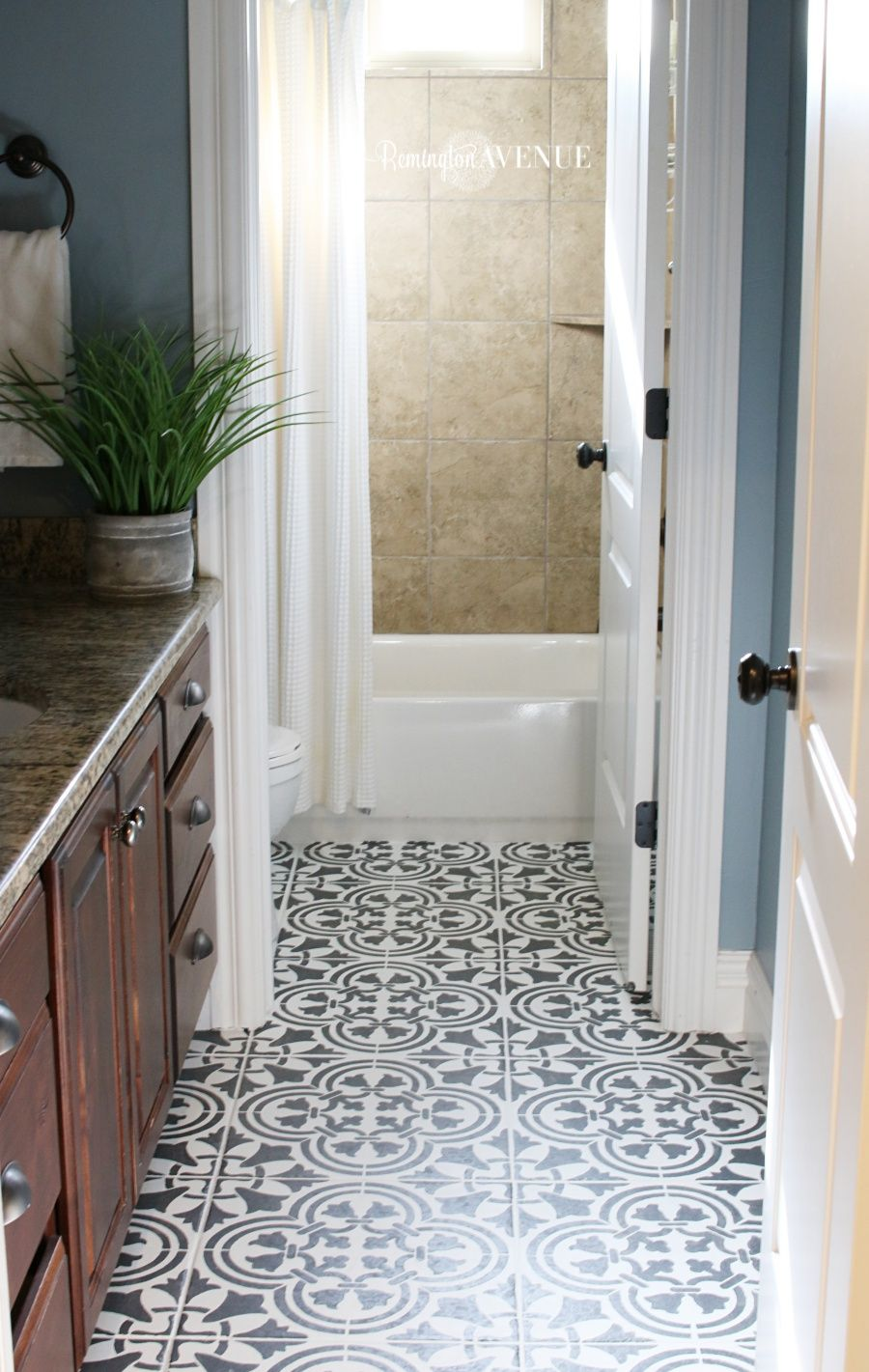 How to Paint & Stencil Tile | Pinterest | Stenciling, Dark and Paint ...