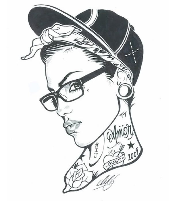 Heres Some Lovely Tattooed Pinup Girl Art Artwork Drawings Art