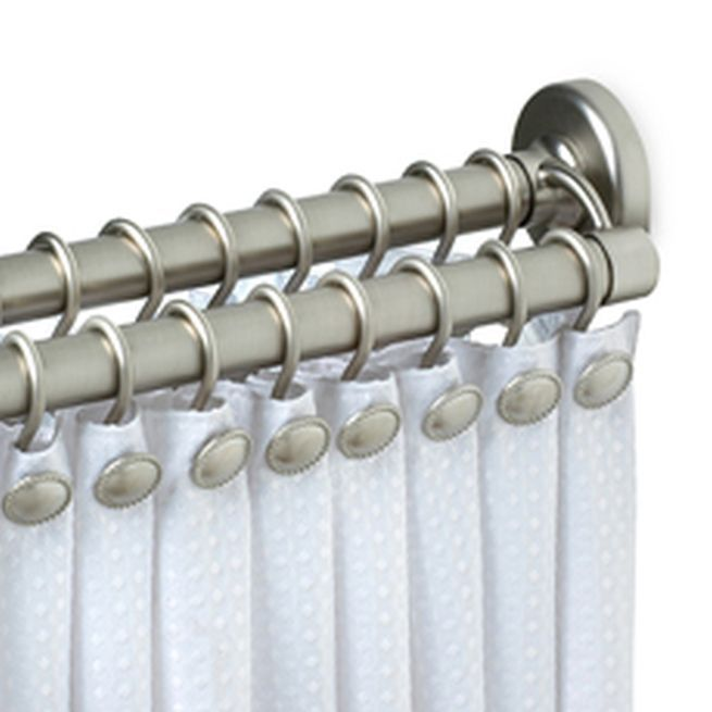 Importance of Double Curtain Rod Set: Double Curtain Rod Set Silver ...