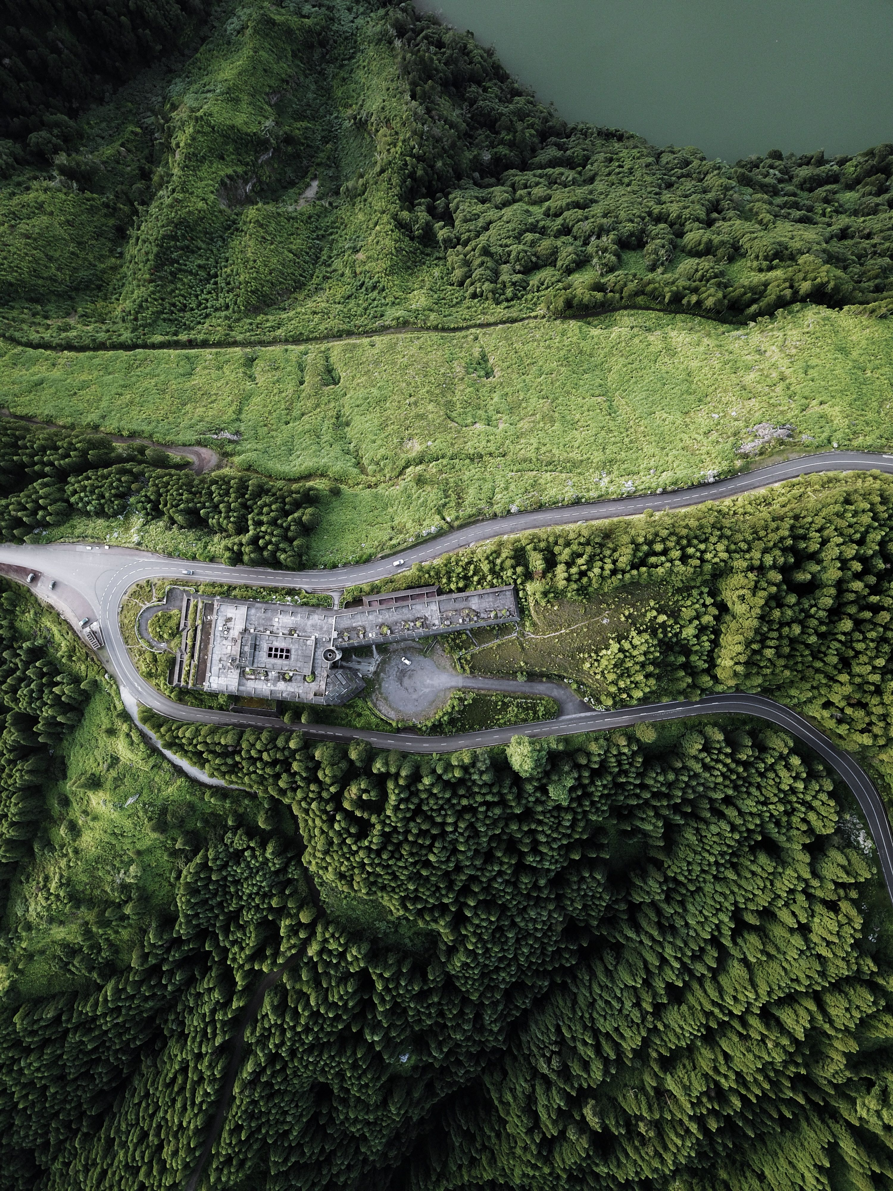 Sao Miguel Island Portugal Aerial View Of Villa Surrounded By Forest Dji Fc220 E0e1e7 Aerial Photography Drone Aerial Photography Aerial Photo