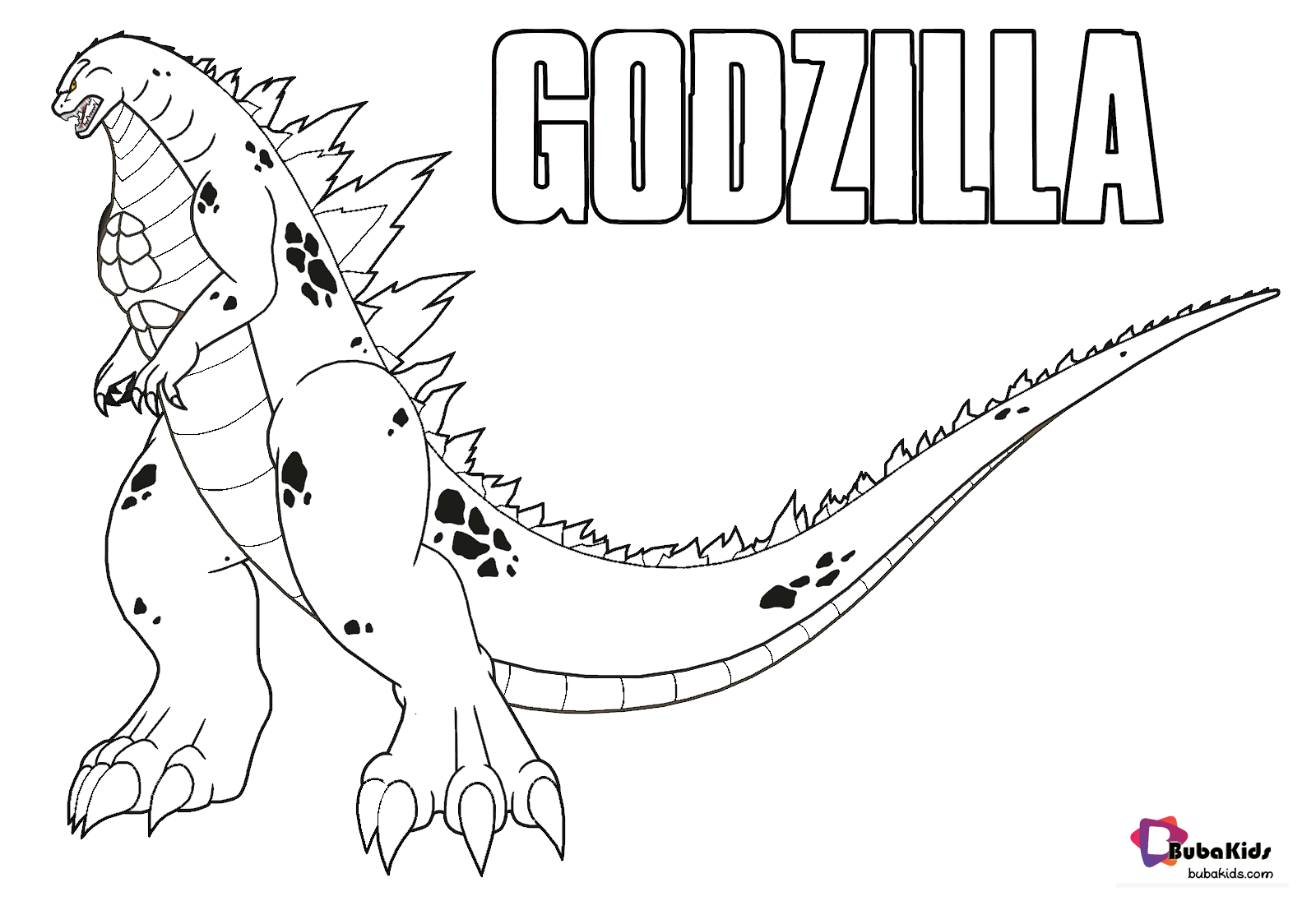 Free Printable Godzilla Coloring Pages For Kids Godzilla King Of Monsters Godzilla Kingofmon Coloring Pages For Kids Coloring Pages Monster Coloring Pages